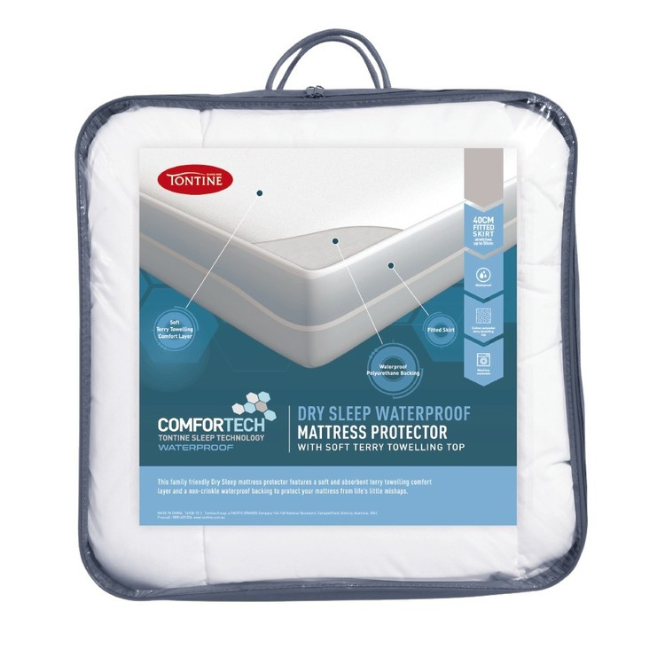 Tontine Comfortech Dry Sleep Mattress Protector White