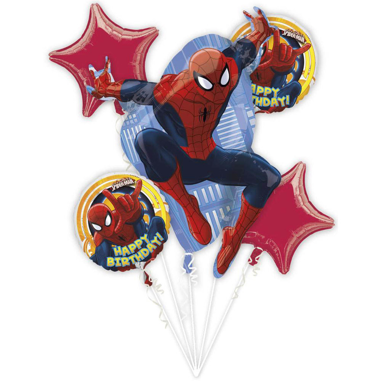Marvel Spider-Man Foil Balloon Bouquet Spiderman