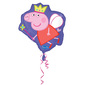 Amscan Foil Peppa Pig W Crown Balloon Purple & Pink 53cm-x-56cm-