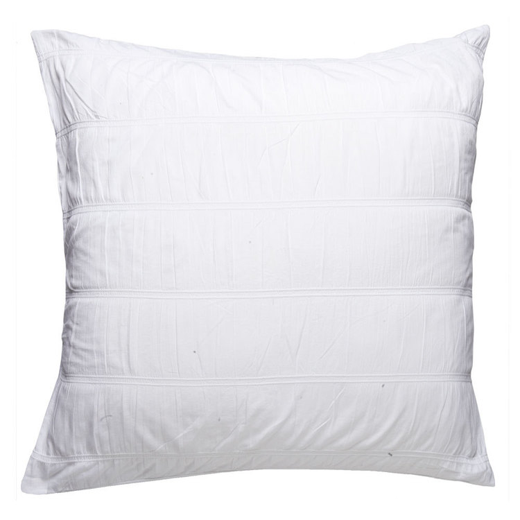 KOO Bella Ruched European Pillowcase White European