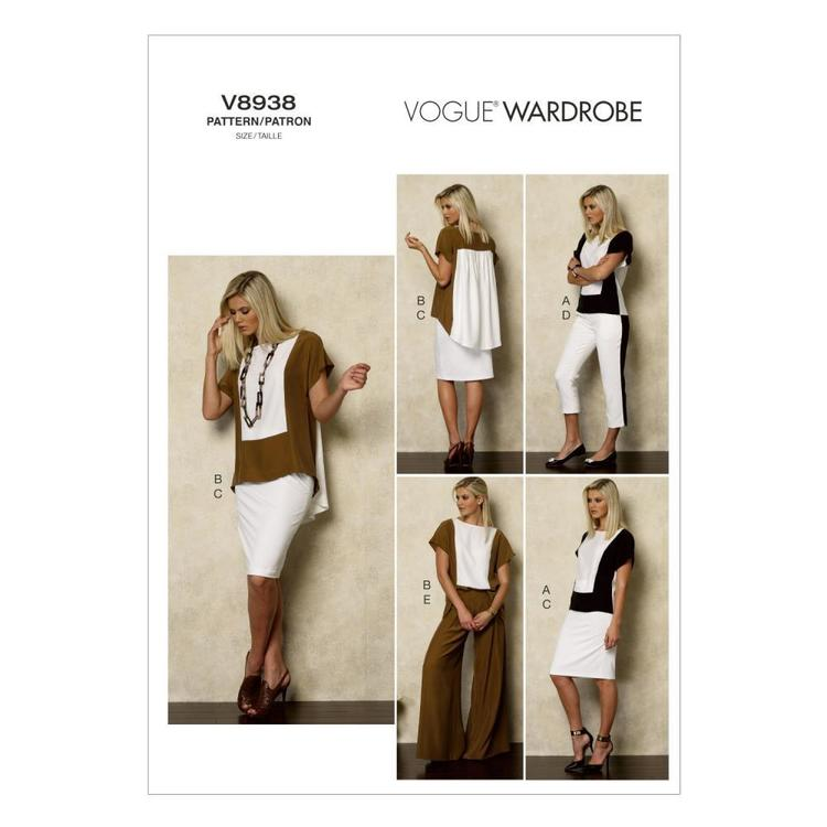 Vogue V8938 Misses' Top Skirt & Pants