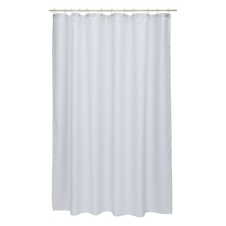 Bath By Ladelle Polyester Shower Curtain White
