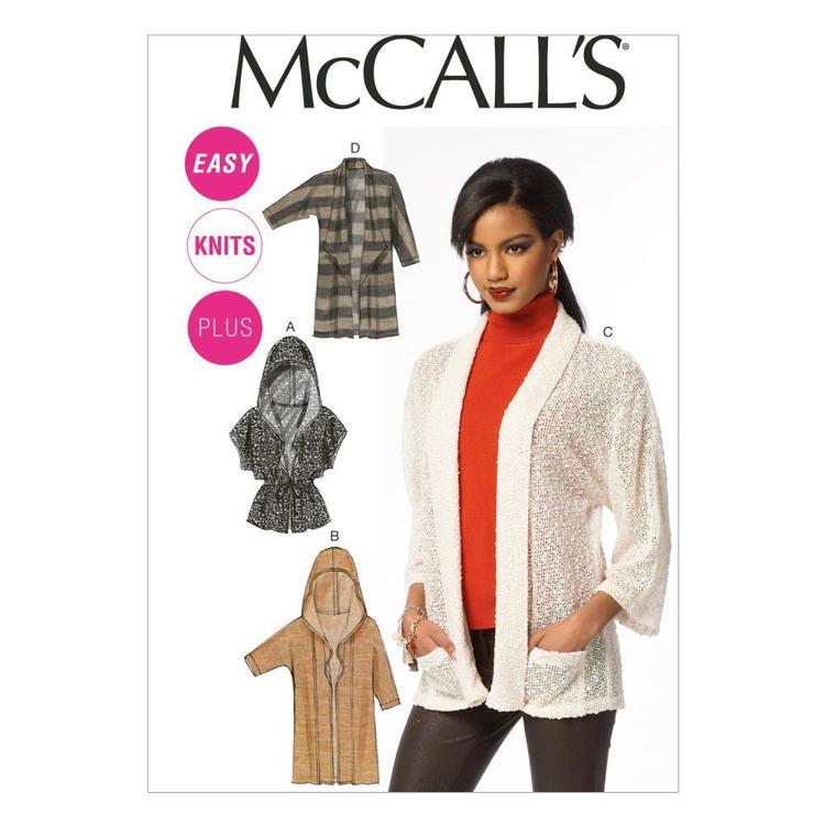 McCall's Pattern M6802 Womens' Cardigans