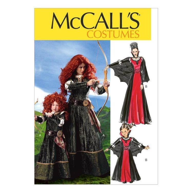 McCall's Pattern M6817 Girls' Costumes