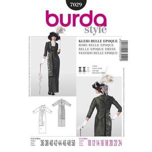 Burda Pattern 7029 Historical Belle Epoque Dress