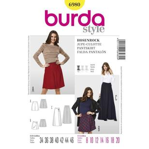Burda Pattern 6980 Women's Skirt