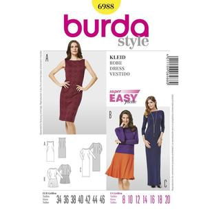 Burda 6988 Women's Dress