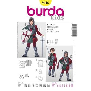 Burda Pattern 9446 Kid's Chevalier Costume