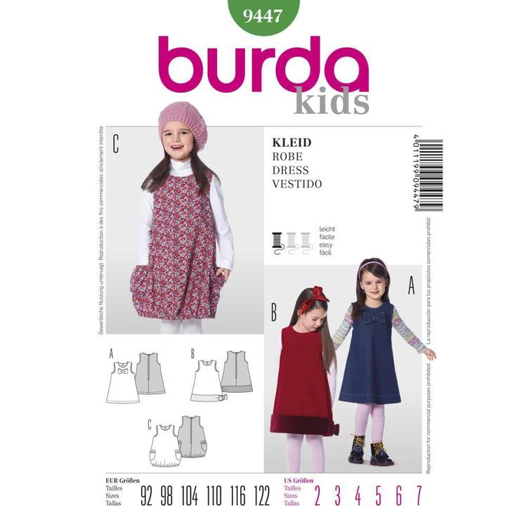 Burda Pattern 9447 Girl's Dress