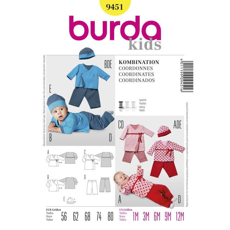 Burda Pattern 9451 Baby Coordinates
