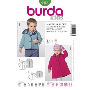 Burda Pattern 9456 Kid's Coat And Jacket