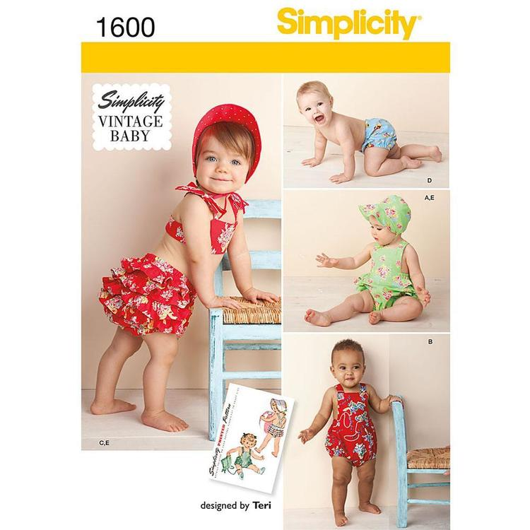 Simplicity Pattern 1600 Baby Coordinates