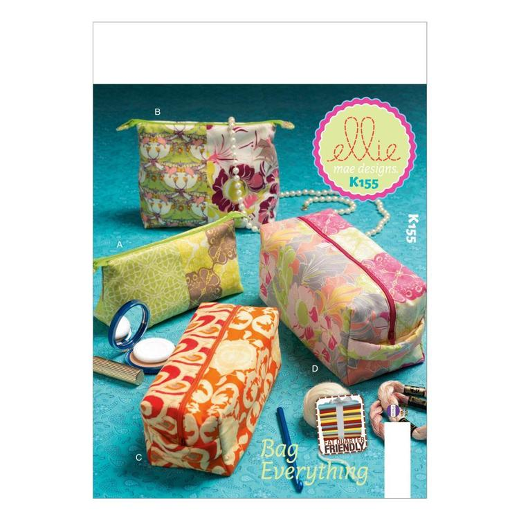 Kwik Sew Pattern K0155 Zippered Cases