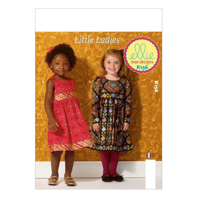 Kwik Sew Pattern K0156 Girls' Dresses