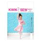 Kwik Sew K4011 Girls' Shrug, Leotard & Skirt  All Sizes