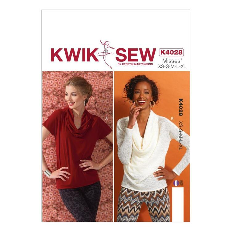 Kwik Sew K4028 Misses' Tops One Size