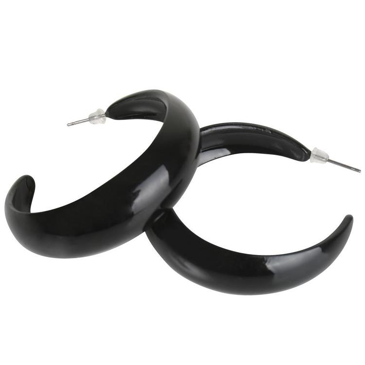Dr Tom's Fancy Dress Hoop Earrings Black