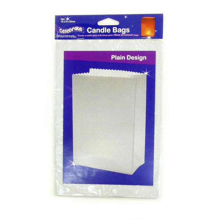 Celebrate Plain Candle Bags 4 Pack