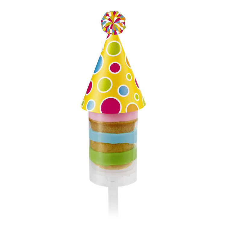Wilton Treat Pops Birthday Hat Toppers Multicoloured