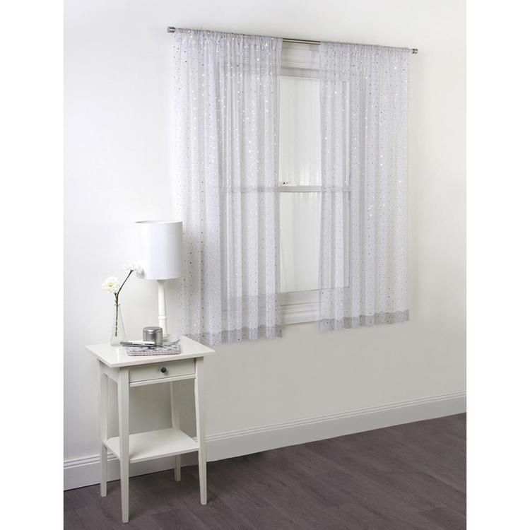 Caprice Sparkle Rod Pocket Light Filtering Curtains