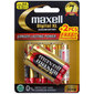 Maxell Digital Alkaline AA Battery 4 Pack With Bonus Multicoloured