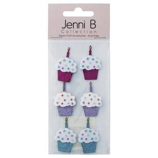 Jenni B Glitter Cup Cakes With Candles