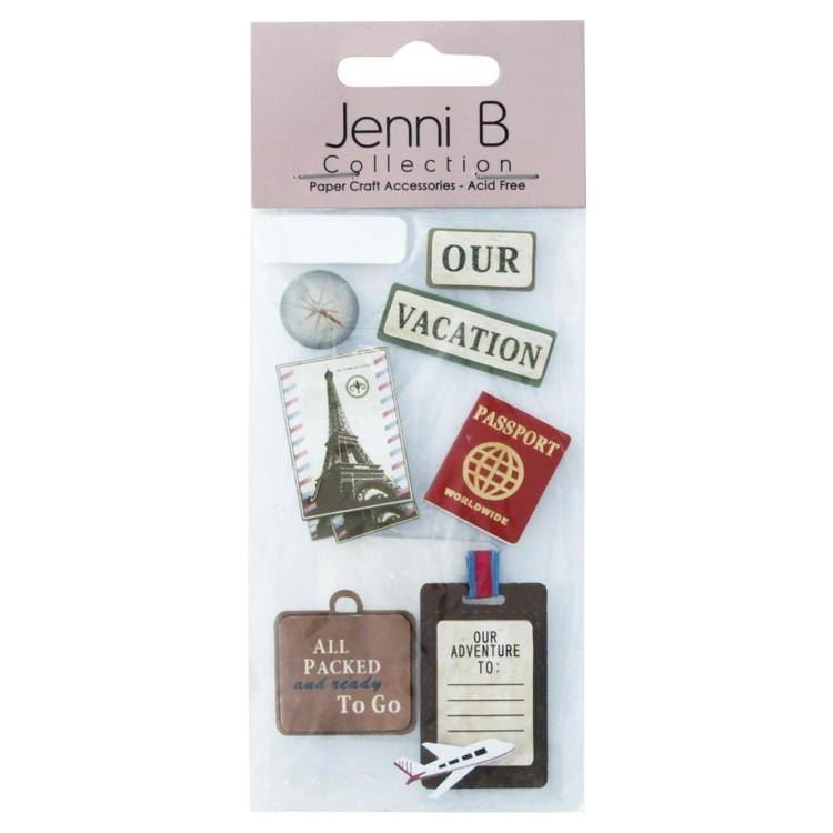Jenni B World Travel Stickers