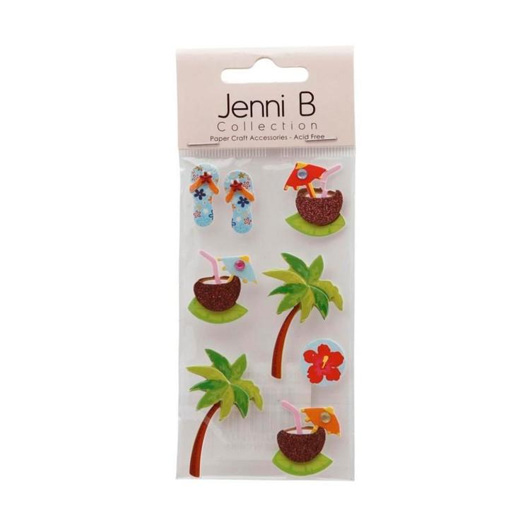 Jenni B Tropical Holiday Stickers