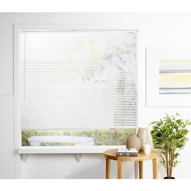 Windowshade 25 mm Light Filtering PVC Venetian Blind White - Everyday Bargain