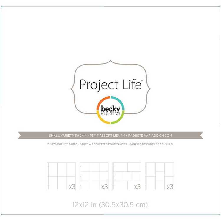 Project Life Becky Higgins Variety Pocket 4 Clear 12 in