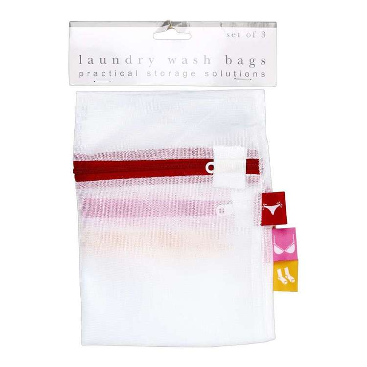 D.Line Clip Strip Set of 3 Washing Bags With Label Tags