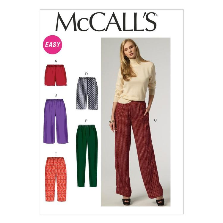 McCalls M6843 Misses' Shorts & Pants
