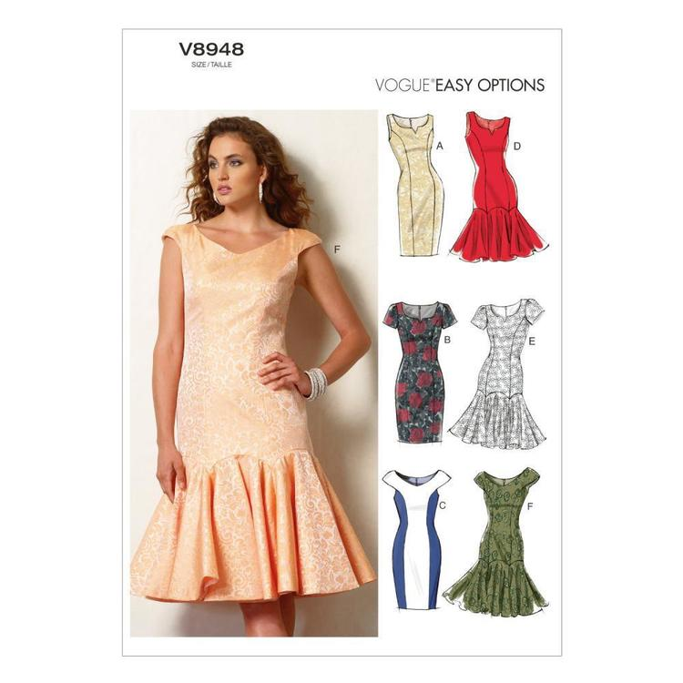 Vogue Pattern V8948 Misses' Petite' Dress