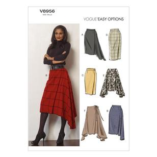 Vogue Pattern V8956 Misses' Skirt