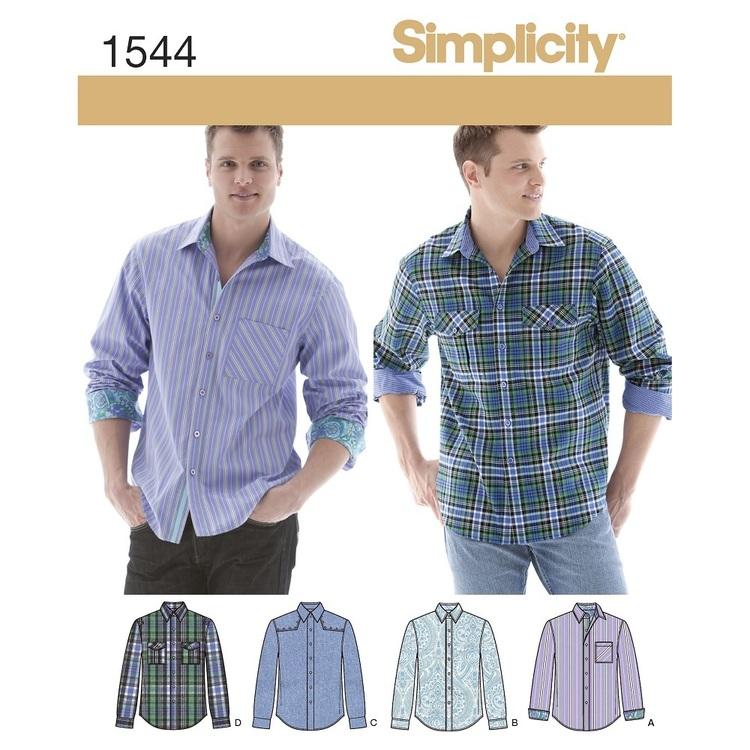 Simplicity Pattern 1544 Men's Shirt