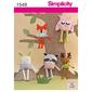 Simplicity 1549 Toy Stuffed Animals  One Size