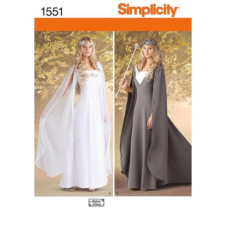 Simplicity Pattern 1551 Misses' Costume