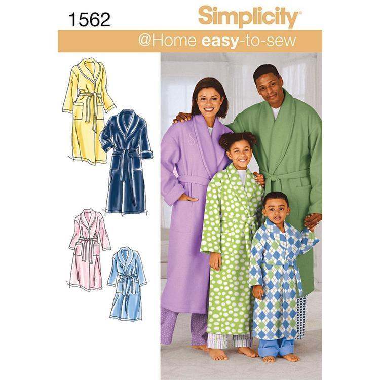 Simplicity Pattern 1562 Unisex Robes