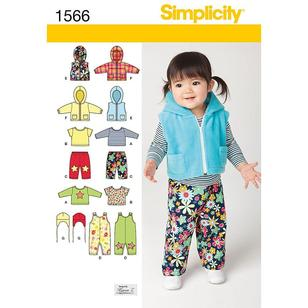Simplicity Pattern 1566 Baby Coordinates