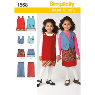 Simplicity Pattern 1568 Girl's Coordinates