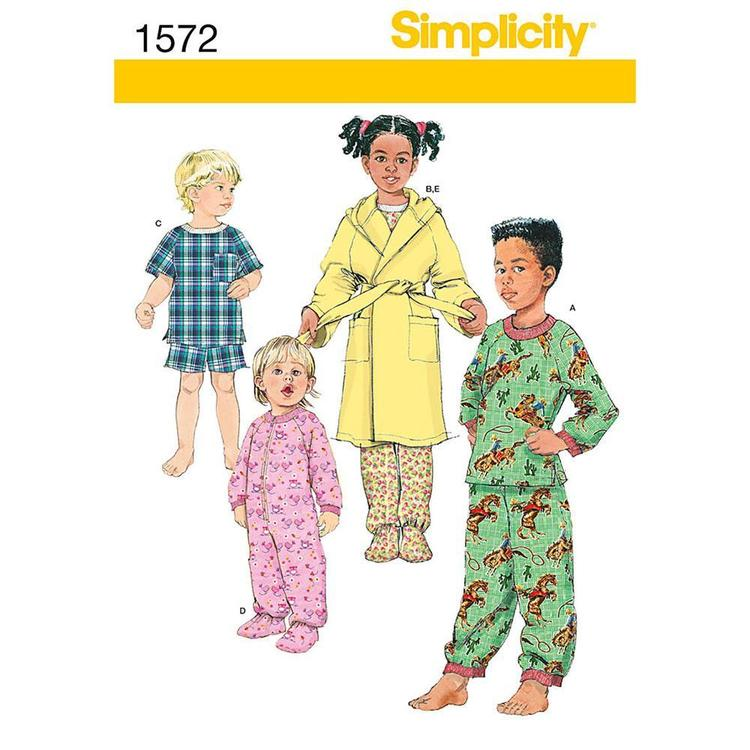 Simplicity Pattern 1572 Kid's Sleepwear