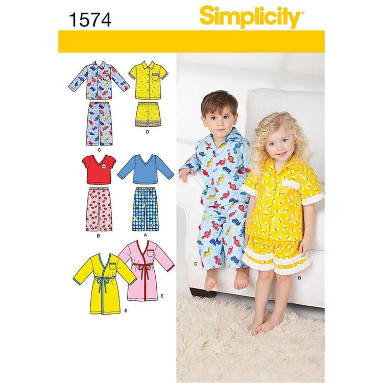 Simplicity Pattern 1574 Kid's Sleepwear