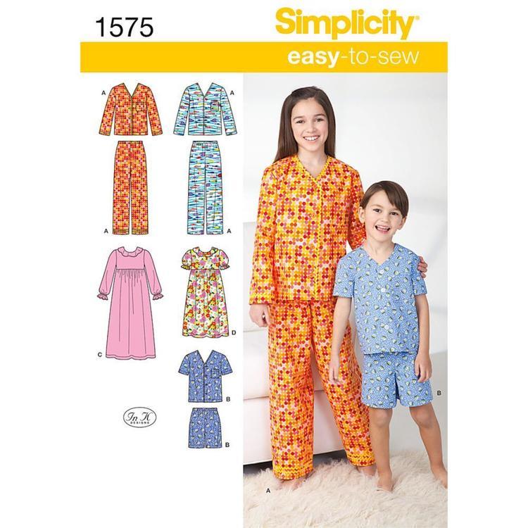 Simplicity Pattern 1575 Unisex Sleepwear
