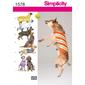 Simplicity 1578 Dog Clothes  One Size