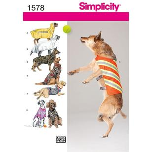 Simplicity Pattern 1578 Dog Clothes