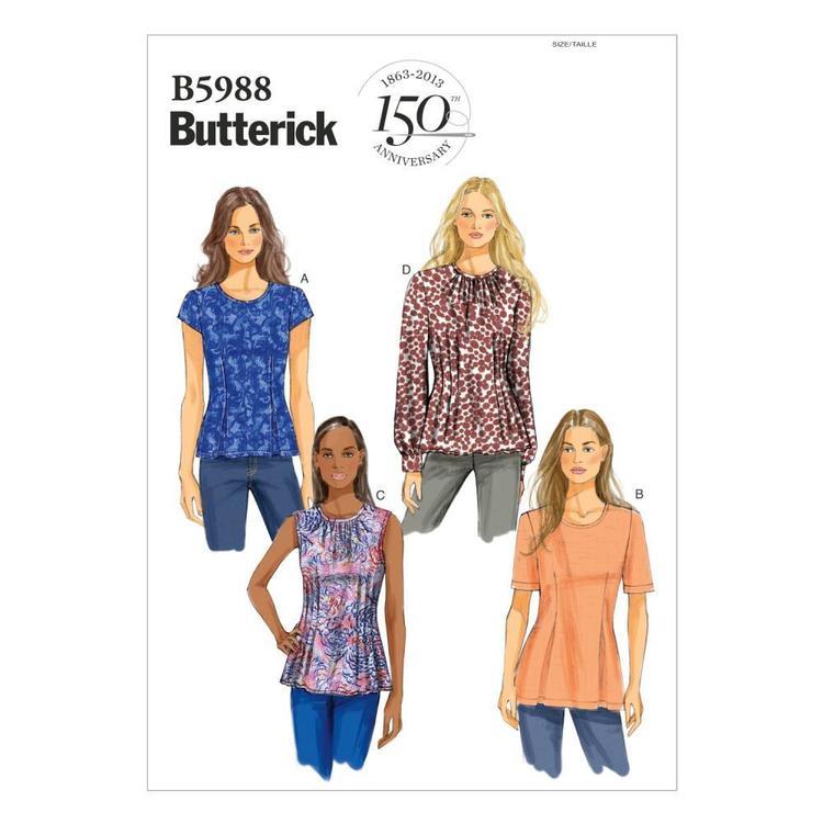 Butterick Pattern B5988 Misses' Petite Top