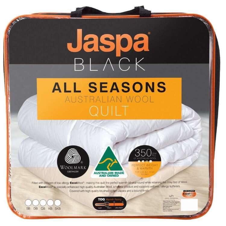 Jaspa Black All Seasons Wool Quilt