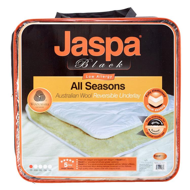 Jaspa Black Australian Wool Reversible Underlay