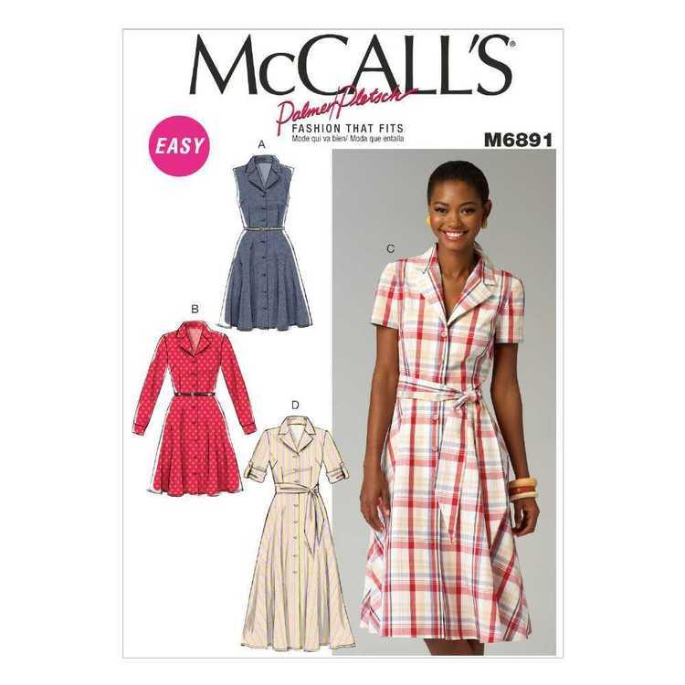 McCall's Pattern M6891 Misses' Dresses & Sash