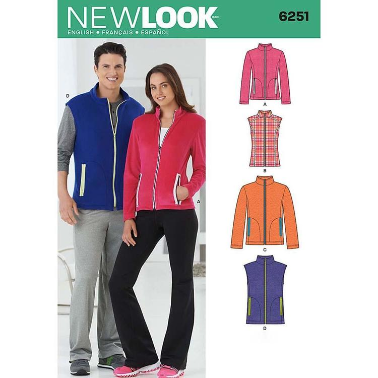 New Look Pattern 6251 Unisex Jacket  X Small - X Large